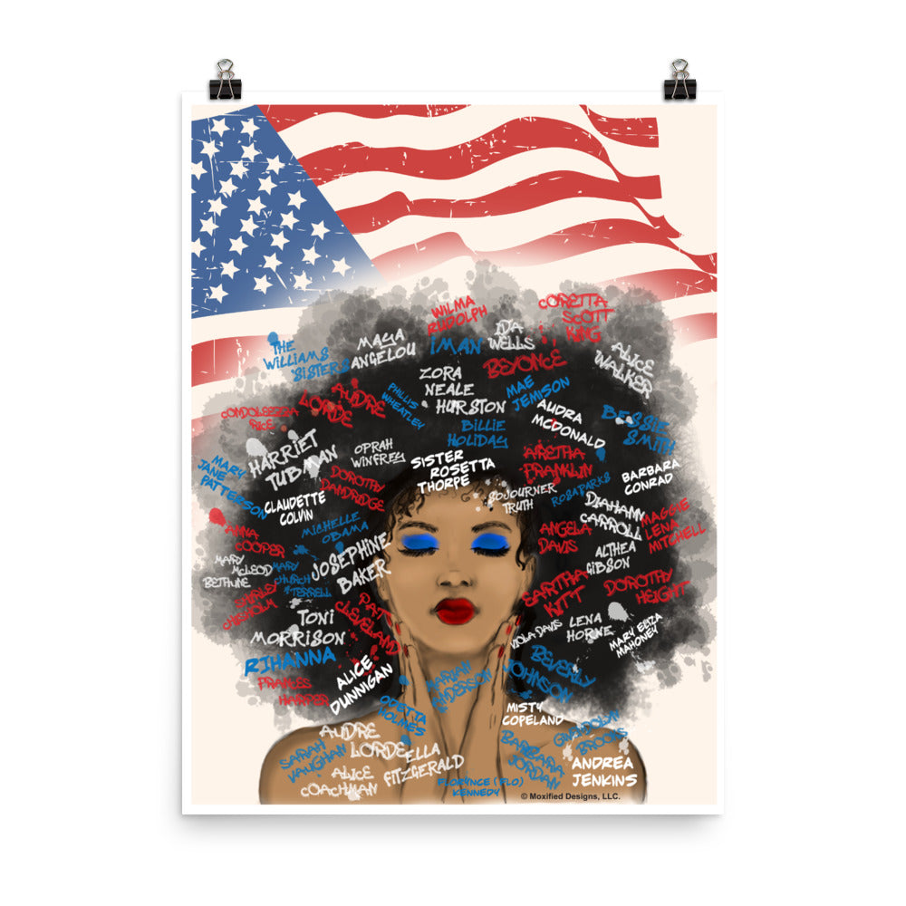 Juneteenth Art Print (Red White Blue, 18 x 24)