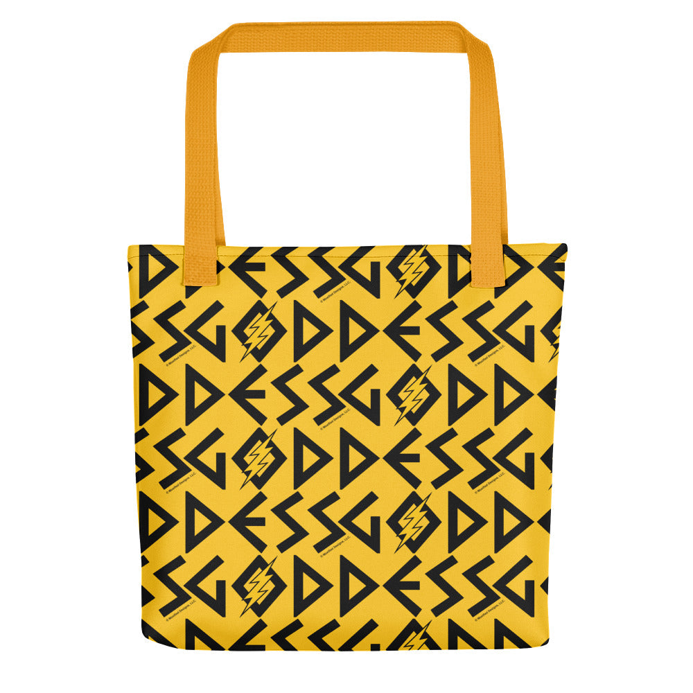 Goddess Tote (Yellow Bag, Black/Yellow Design)