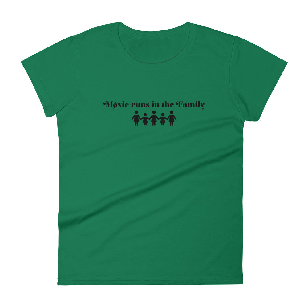 Family Women's Semi-Fitted Tee (Black Text)