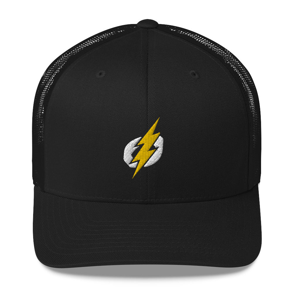 Trucker Cap - White/Yellow Bolt