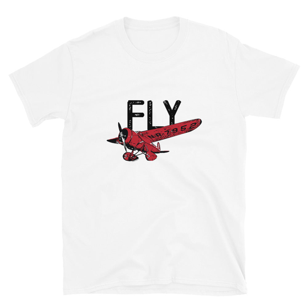 FLY Women's Standard Tee (Black/Red Design)