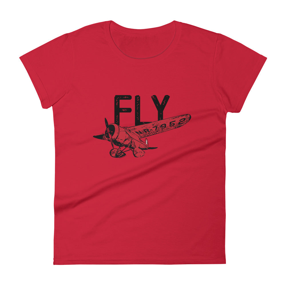 FLY Women's Semi-Fitted Tee (Black Text)