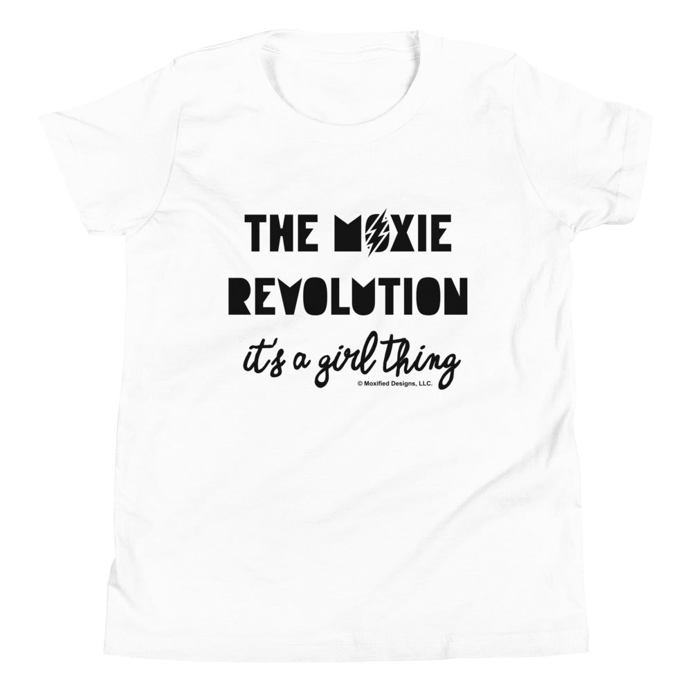 Moxie Revolution Standard Youth Tee (Black Text)