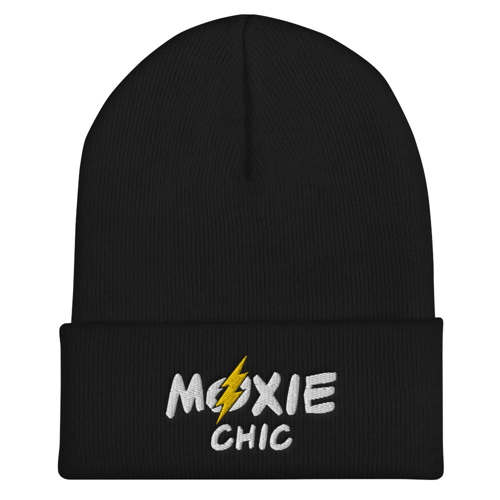Cuffed Beanie White/Yellow Logo