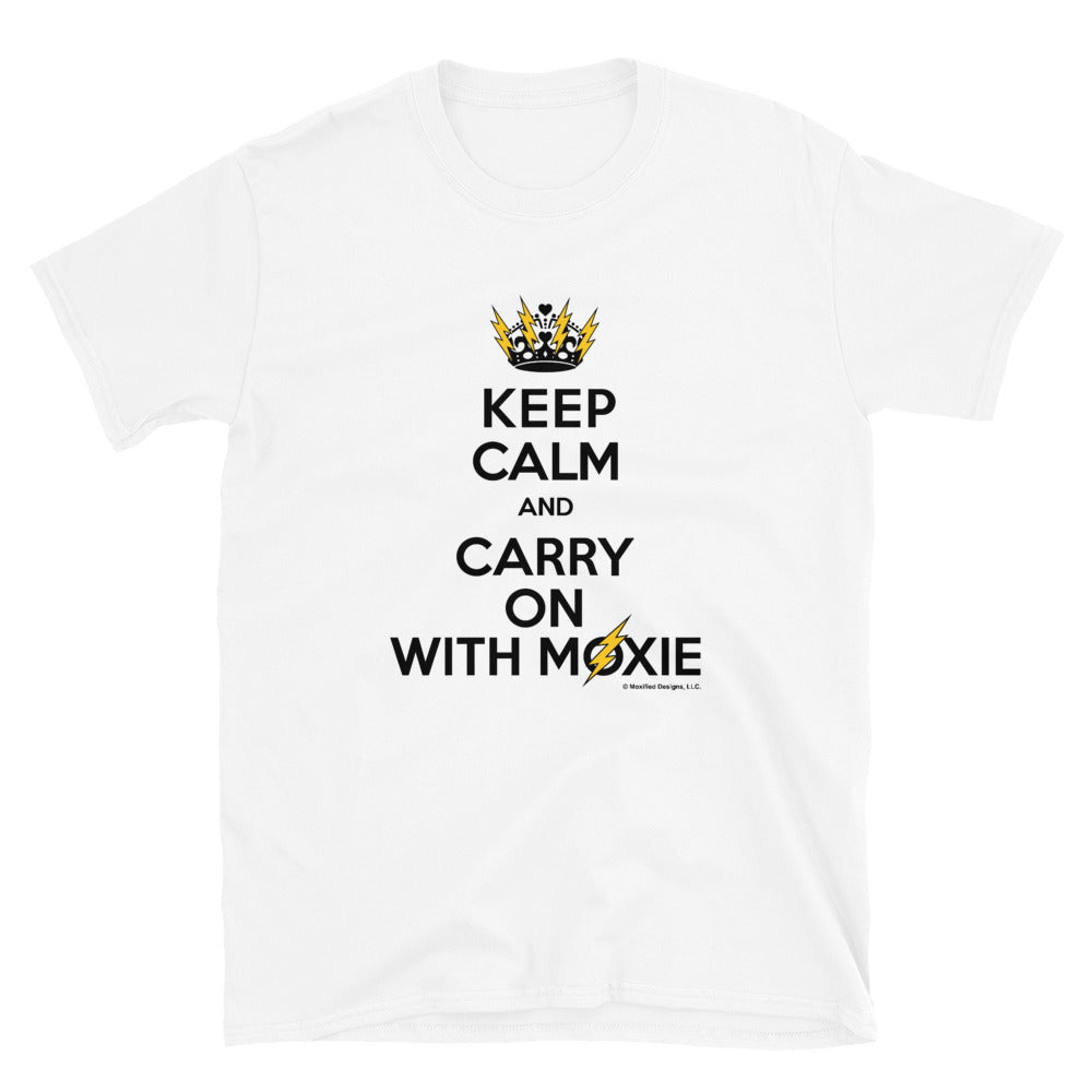 Keep Calm Adult Unisex Tee (Black/Yellow design)