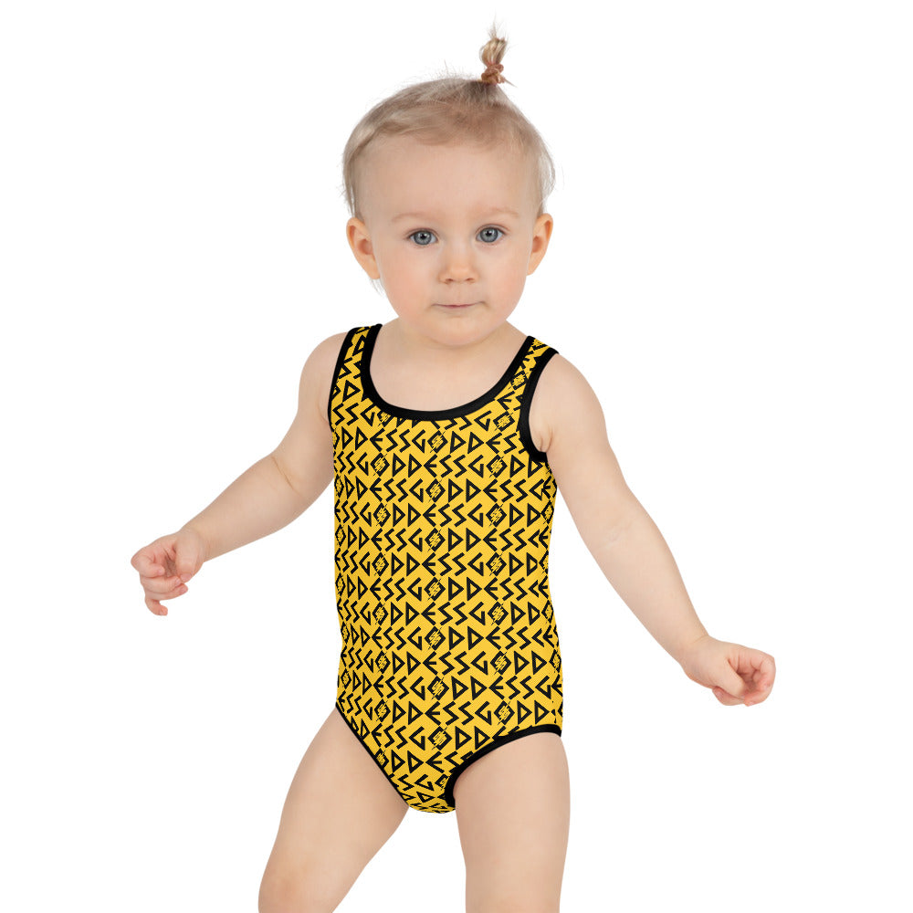 Goddess Kids Swimsuit (Yellow)