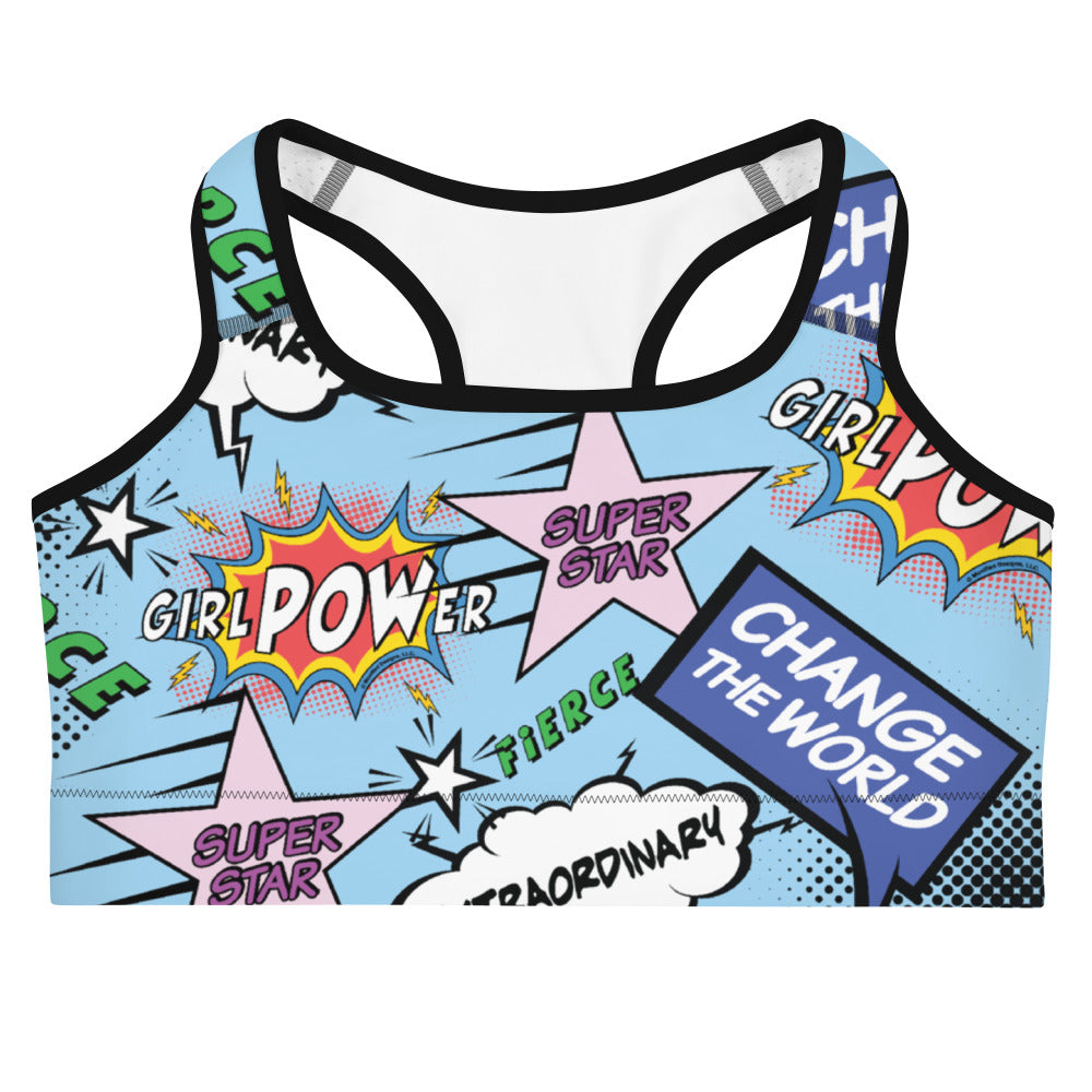 girlPOWer Sports bra (Multi, Blue Background)