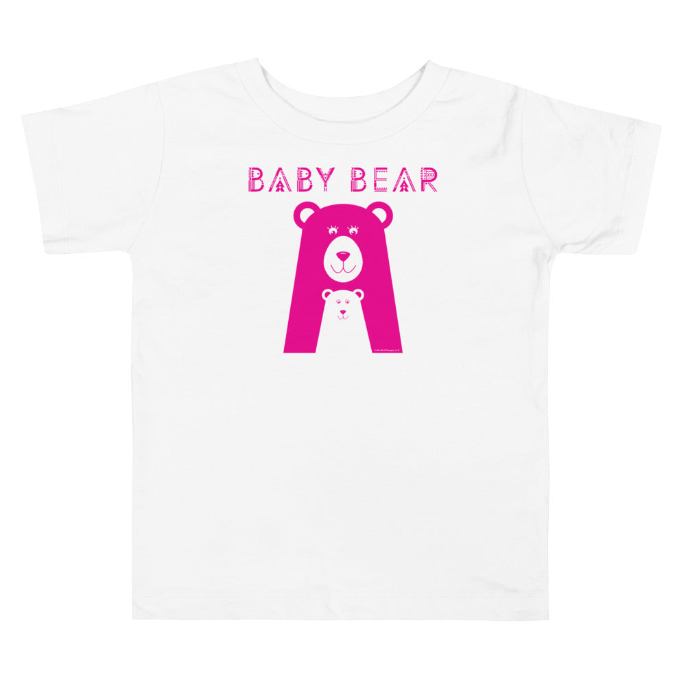 Baby Bear Toddler Standard Tee (Pink Design)
