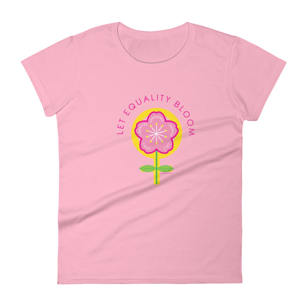 Flower Power Women's Semi-Fitted Tee (Multi Design)