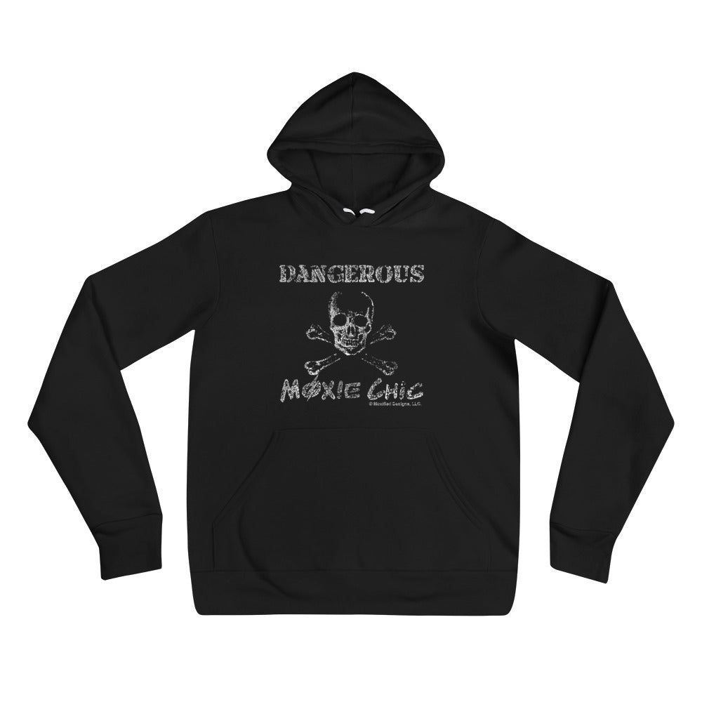 Dangerous Adult Unisex Hoodie (White Design)