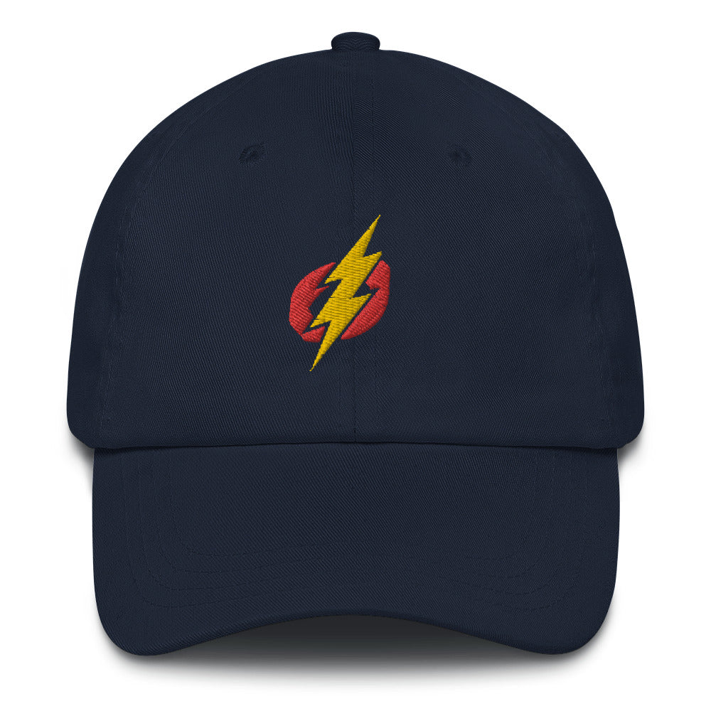 Baseball Hat - Red/Yellow Bolt