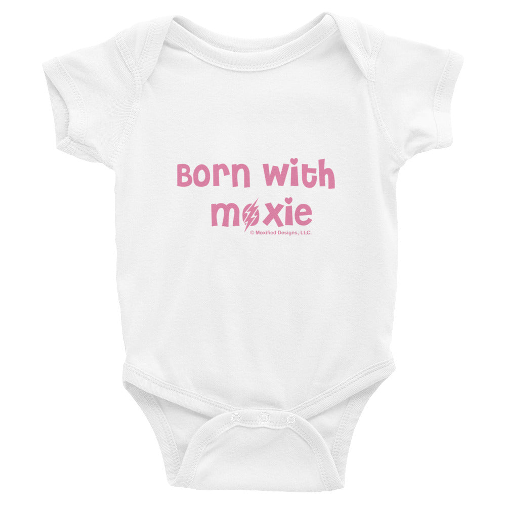 Born With Moxie Bodysuit (Pink Text)