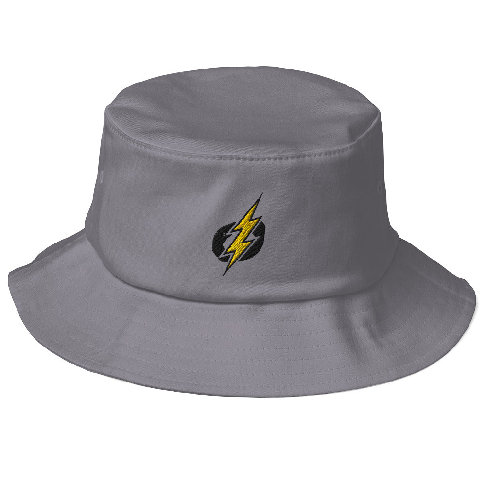 Logo Old School Bucket Hat (Black/Yellow Bolt)