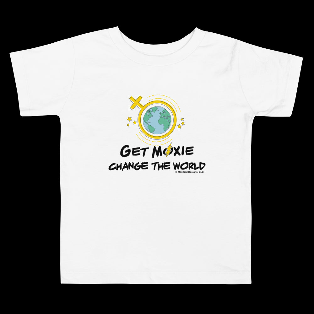 Change The World Toddler Standard Tee (Yellow Design)