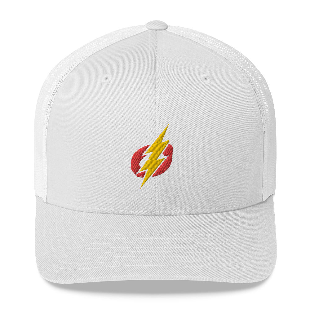 Trucker Cap - Red/Yellow Bolt