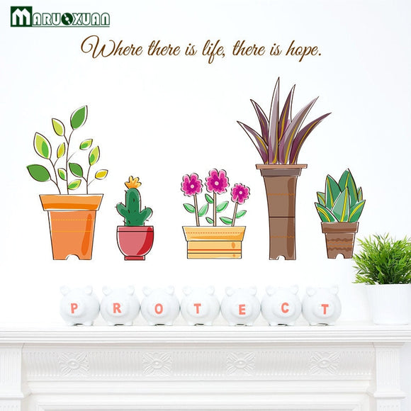 Artificial Flowers Wall Stickers For Children Room
