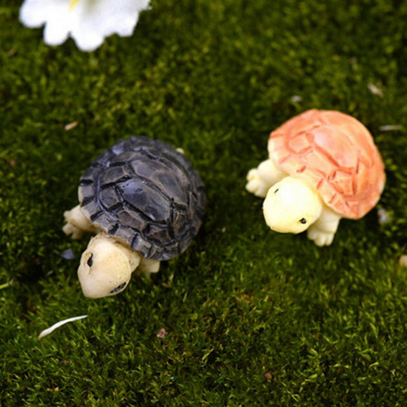 2 Pcs Tortoise Model For Doll House