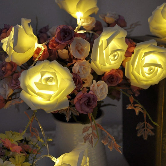 20 LED Garland Rose Flower