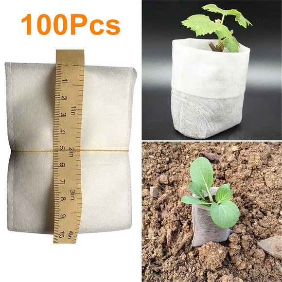 100pcs/lot Biodegradable Seed Nursery Bags