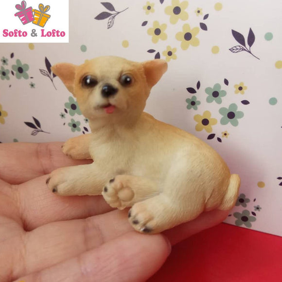 Mini resin Chihuahua doggy figure