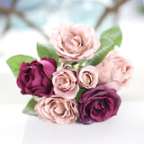 Handmade artificial roses flowers wedding brides bouquet
