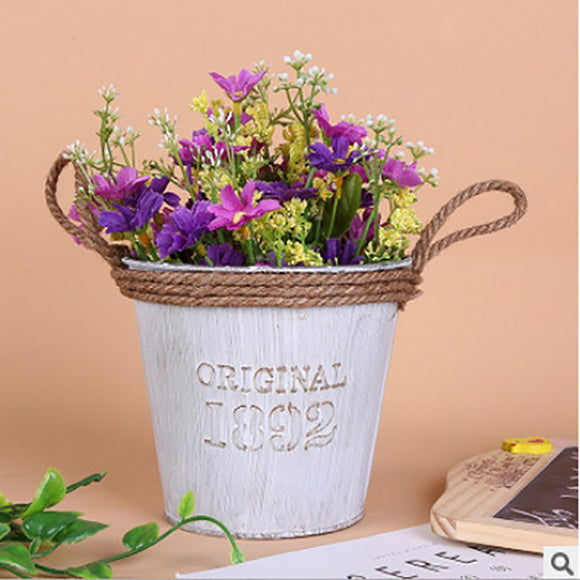 2019 hot new products Metal Iron Keg Flower Pot