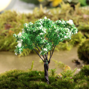 Zakka Groceries Green Tree With White Flowers