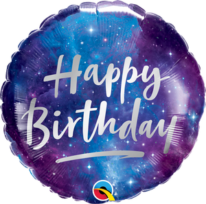 Happy Birthday Galaxy Balloon