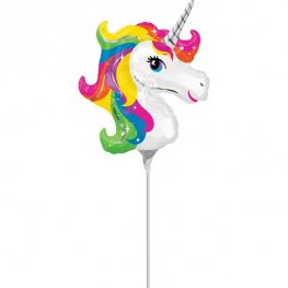 Mini Unicorn Head Balloon