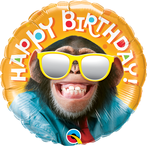 Happy Birthday Smilin Chimp Balloon