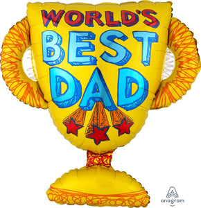 Best Dad Trophy Supershape Balloon
