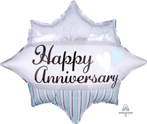 Elegant Happy Anniversary Balloon