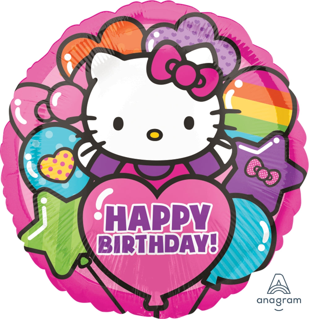 Hello Kitty Rainbow Happy Birthday Balloon