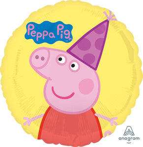 Peppa Pig Party Hat Balloon