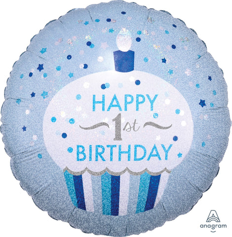 1st Birthday Cupcake Balloon