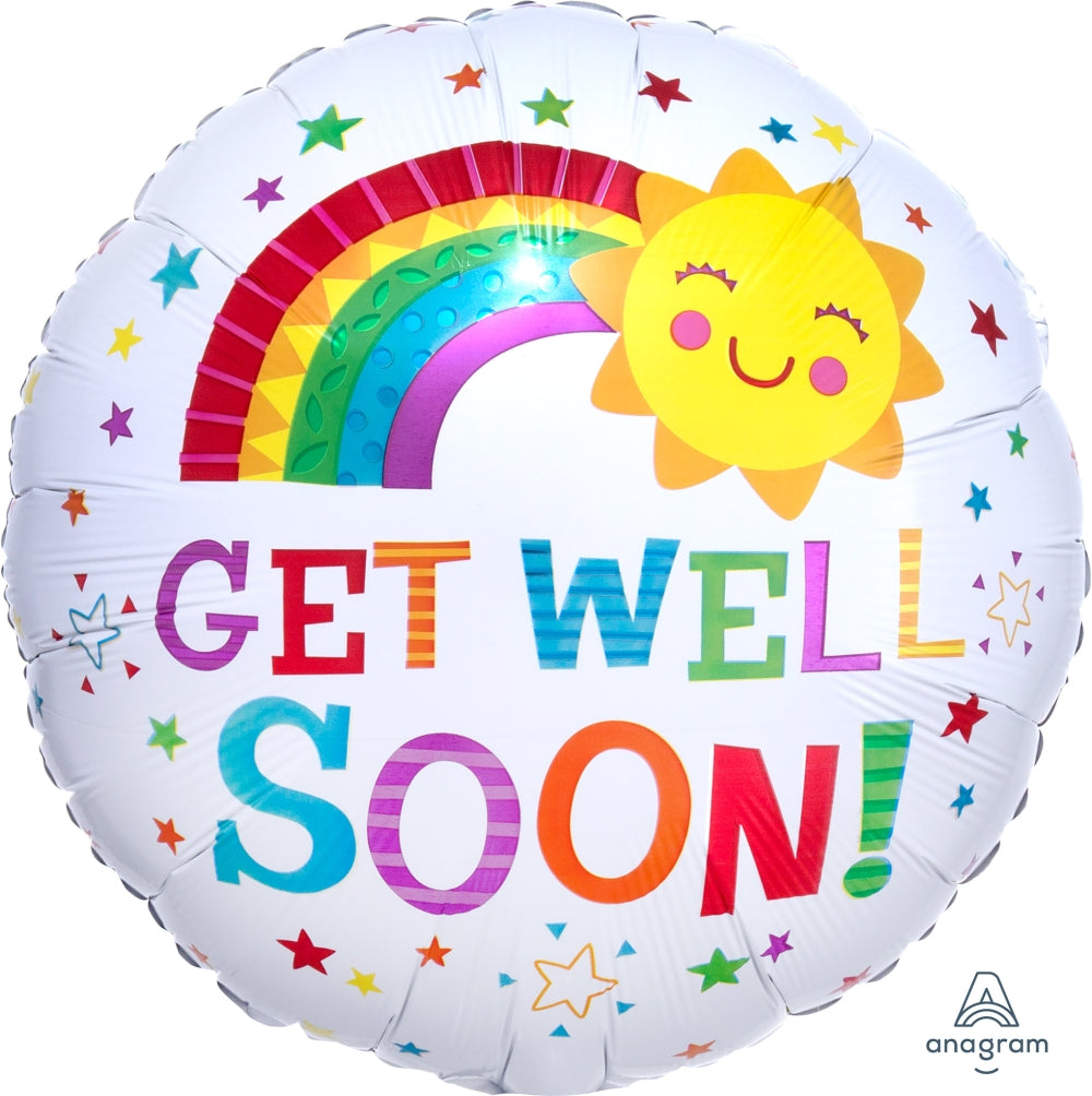 Get Well Soon Happy Sun Balloon