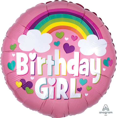 Birthday Girl Rainbow Balloon