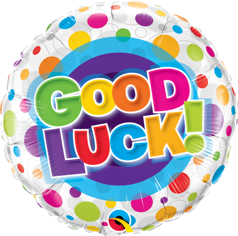 Good Luck Colourful Dots Balloon