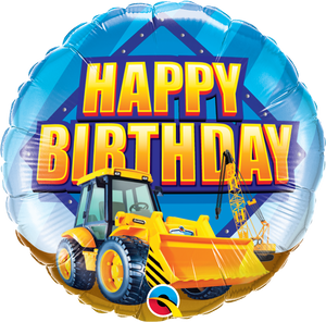 Happy Birthday Construction Zone Balloon