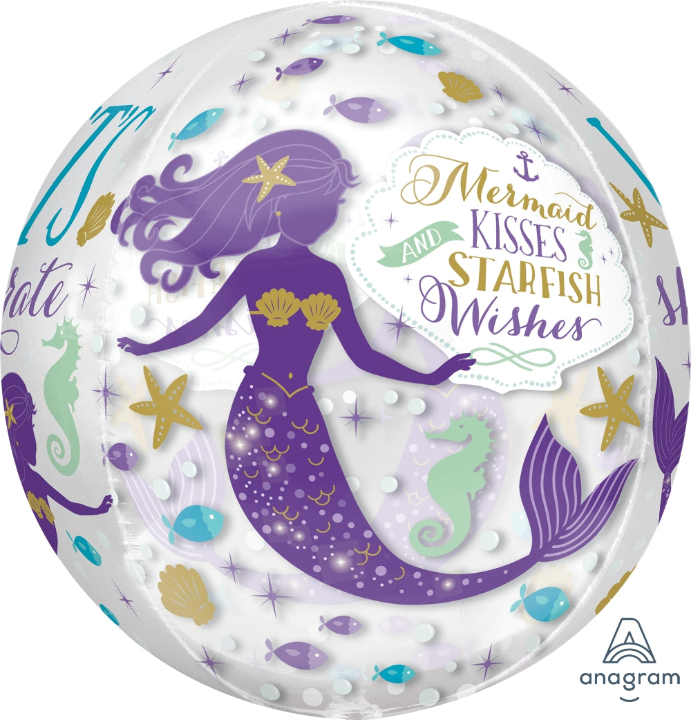 Mermaid Wishes Orbz Balloon