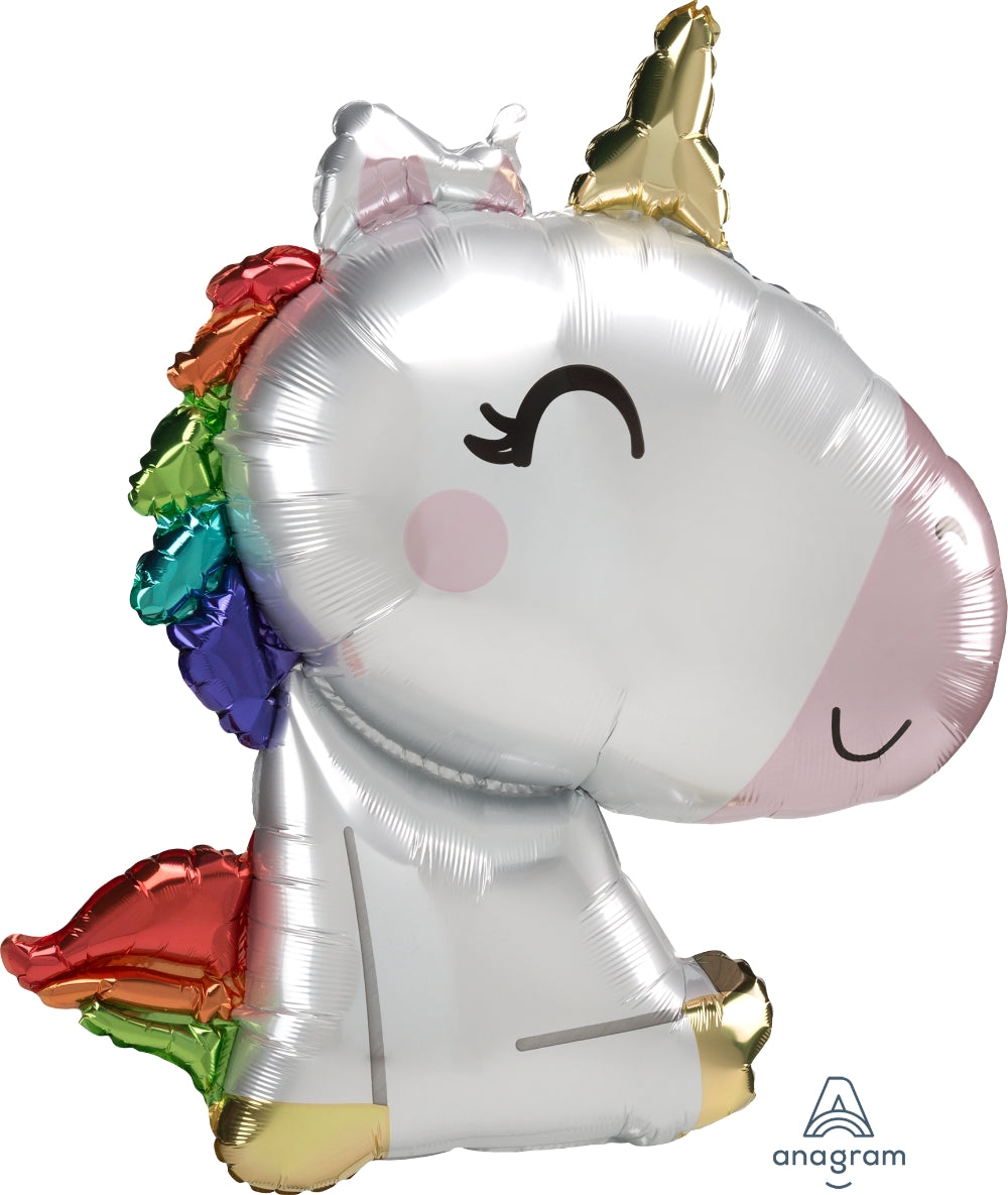 Sitting Unicorn Supershape Balloon