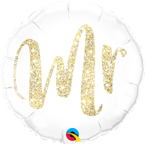 Mr Gold Glitter Balloon
