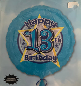 Happy 13th Birthday Star Balloon