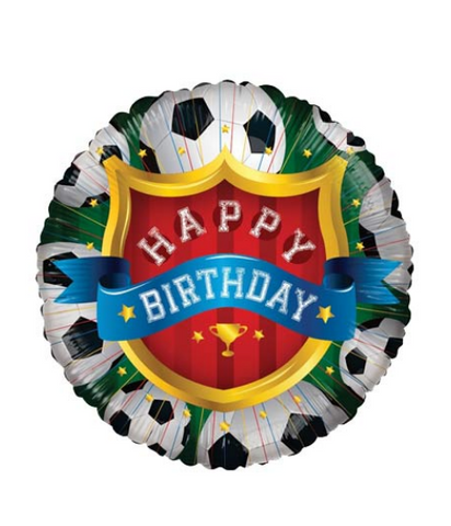 Happy Birthday Football Balloon