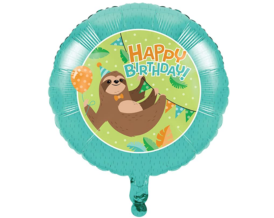 Happy Birthday Sloth Balloon