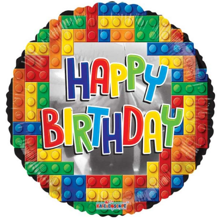 Happy Birthday Lego Balloon