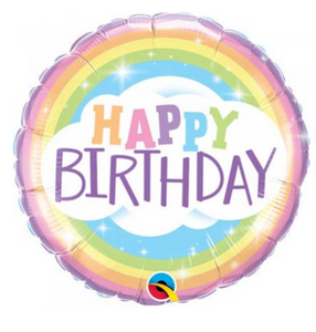 Happy Birthday Rainbow Balloon