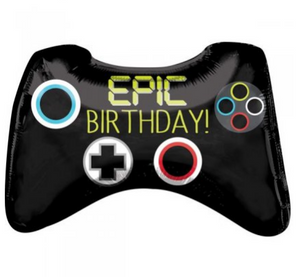 Epic Birthday Game Controller Supershape Balloon