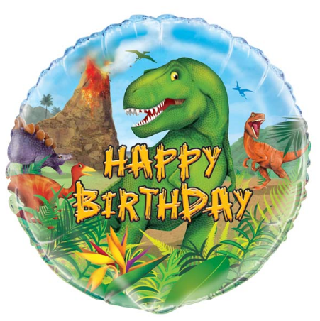 Dinosaur Birthday Foil Balloon