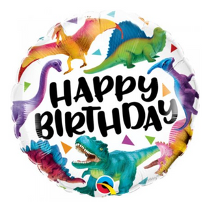 Happy Birthday Colourful Dinosaurs Balloon